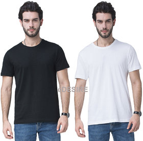 eDESIRE Plain Dry-Fit Mens Round Neck T-Shirt (combo Pack of 2)