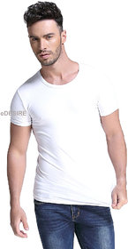 eDESIRE Plain Casual Dry-Fit Sports Gym Solid Mens Round Neck T-Shirt