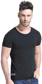 eDESIRE Plain Solid Mens Round Neck T-Shirt