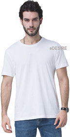 eDESIRE Tshirts Plain Casual Dry-Fit Sports Gym Round Neck T-Shirt For Men