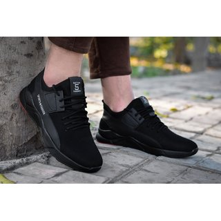Spain Style Men Black Lace-up Outdoors Shoes