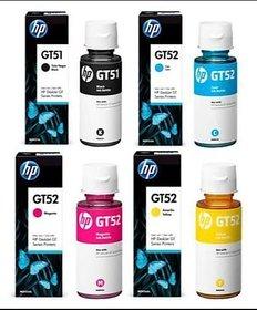 HP Gt 51  Gt 52 Multi Color Ink Cartridge Pack Of 4, (Black, Magenta, Yellow, Cyan)