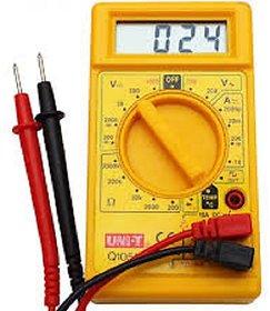 Digital Multimeter LCD AC DC Measuring Voltage Current  Digital Multimeter  (Yellow 2000 Counts)
