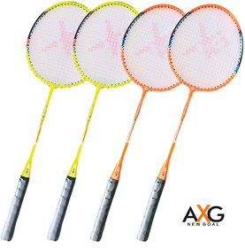 AXG New Goal Advance Badminton Rackets Set Of 4