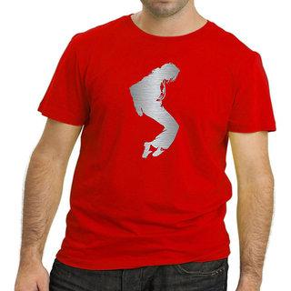 HEYUZE Cotton Male Men's Round Neck Half Sleeve MJ Printed T-Shirt