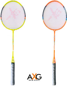 AXG New Goal AX-8 Stylish swing Multicolor Strung Badminton Racquet  (Pack of 2, 100 g)