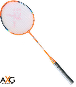 AXG New Goal AX-8 Sturdy and Powerful Orange Strung Badminton Racquet  (Pack of 1, 100 g)