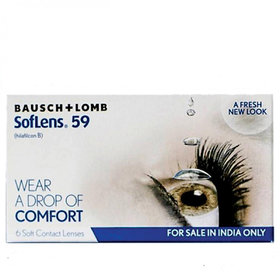 SofLens 59 Monthly Disposable Contact Lens Pack Of 6 With One KN95 Mask Free (-0.100)