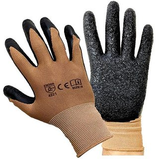MPI HAND SAFETY Anti-Slip GLOVES PUNCTURE RESISTANT Motorcycle Bike Brown gloves 1 PAIR