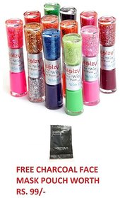Sweetgirl 2 Way Nail Polish  6 Pc. (12 Shades) (Multi Color)   Set With Free Gift