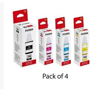Canon GI790 INK Bottle Multicolor Pack of 4 Ink bottle forUse Pixma G1000, G2000, G3000