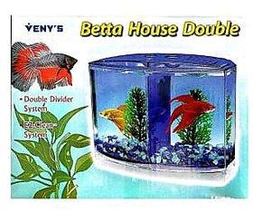 VENY'S Betta House Double  Betta Tank  (1 L)