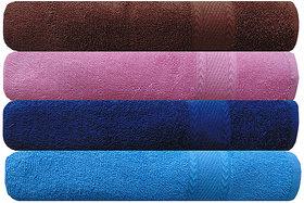 Akin Premium 500 GSM MultiColor Cotton Hand Towels Set Of 4