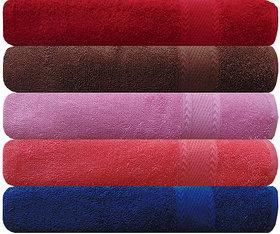 Akin Premium 500 GSM MultiColor Cotton Hand Towels Set Of 5
