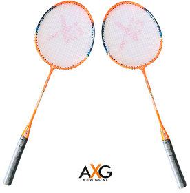 AXG new goal AX-8 Stylish swing Orange, Black Strung Badminton Racquet  (Pack of 2, 100 g)