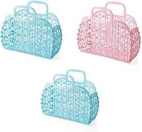 Creative Designed Fruit Vegetable Storage Basket Bag For Women (Set of 3) Plastic Fruit Vegetable Basket