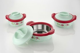 Thermoware Casserole Set (2500 ml, 1500 ml, 800 ml) pack of 3