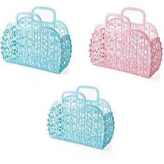 Creative Designed Fruit Vegetable Storage Basket Bag For Women (Set of 2) Plastic Fruit Vegetable Basket
