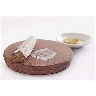 Moulik Sandalwood Chandan Stick and Rubbing Stone Chakla 25 grams (LooksAtME)