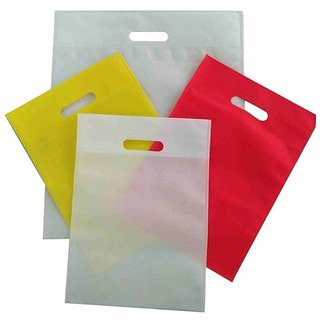 Kkrish D Cut Non-woven Eco Friendly Bags, (Size 10X14)(Pack of 25)
