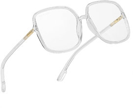 ROYAL SON Over Sized UV Protected Women Sunglasses - Transparent