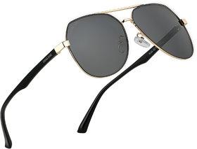 ROYAL SON UV Protected HD Polarized Men Sunglasses - Black