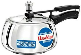 Hawkins Stainless Steel Contura 3 L Induction Bottom Pressure Cooker(Stainless Steel)