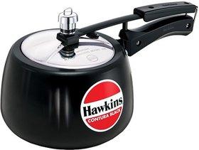 Hawkins Contura Black 3 L Pressure Cooker(Aluminium)