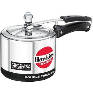 Hawkins Hevibase Inner Lid 3 L Aluminium Induction Bottom Silver Pressure Cooker