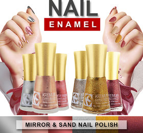 Kremlin Premium Quality Sand and Mirror Finish Nail Paint  Pack of 6 (1 to 6)