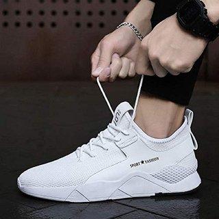 mens white running shoes
