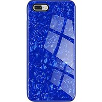 GoPerfect Bling Shall Marble Glass Back Cover For  iPhone 6S (Blue)