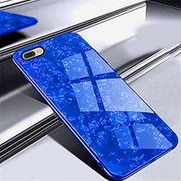 GoPerfect Bling Shall Marble Glass Back Cover For  iPhone 7 Plus (Blue)