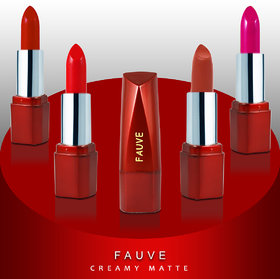 Fauve Creamy Matte Lipsticks (FL18A) 4.5g Each Pack of 4