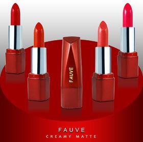 Fauve Creamy Matte Lipsticks (FL18B) 4.5g Each Pack of 4