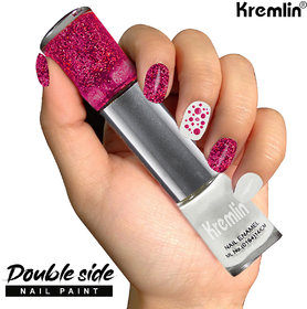 Kremlin 2 in 1 Color Dual Nailpaint Pink, White (149-103)