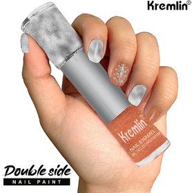 Kremlin 2 in 1 Color Dual Nailpaint Silver, Light Brown (102-120)