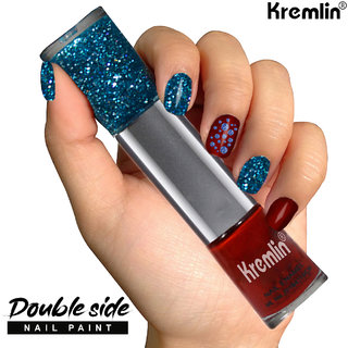 Kremlin 2 in 1 Color Dual Nailpaint Blue, Red (153-119)
