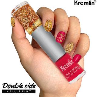Kremlin 2 in 1 Color Dual Nailpaint Golden, Pink (134-116)
