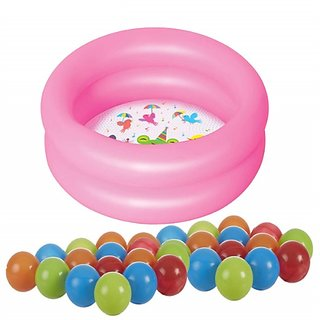 MDN Inflatable 2 feet Kid's Swimming Pool/Water Pool Bath Tub/Kiddie Pool with with 10 Multicolor floating Balls