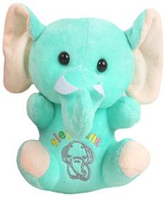 DANR Cute Baby Elephant Stuffed Soft Plush Toy For Kids (5011 ELEPHANT GREEN)