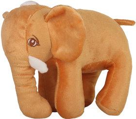 DANR STUFFED SOFT PLUSH STANDING STUFFED ELEPHANT TOYS FOR KIDS (5174 ELEPHANT TAN)