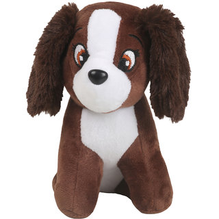 DANR SuperSoft Cute plush Stuffed Dog Toy For Kids  5221 DOG BROWN  Soft Toys