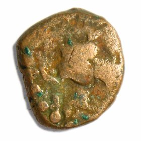 OLD INDIA ANTIQUE COIN - KUSHAN COIN DIDRACHM  EXTREMLY RARE COIN - BUYERS WILL GET SAME COIN - SEE THE IMAGES YOURSELF