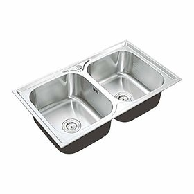 Kaff Stainless Steel Double Bowl Sink (85 X 5 Mm)