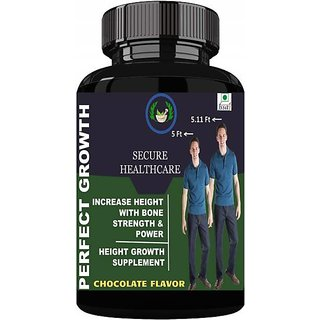 Secure Healthcare Perfect Growth Height Growth /Height Increase Chocolate Flavour Powder Pack of 1