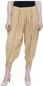 TNQ Rayon Full Length Free Size Dhoti Pants Salwar For Women (Waist Fits upto 28 to 40)