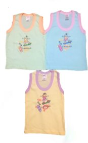 Kids Soft Cotton Vests for both boys and girls ( 0-2 yrs kids age, Pack of 3)