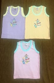 Kids soft cotton Vests for both boys and girls ( 0-6 months, 1-2yrs kids age, Pack of 3)
