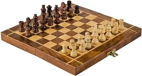 Triple S Handicrafts 12x12 inch Wooden folding,Non-magnetic Chess Board Game